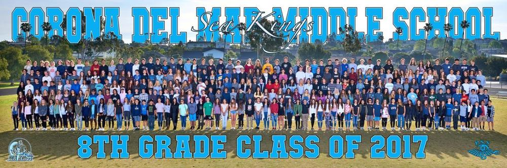 8th grade graduation panoramic picture